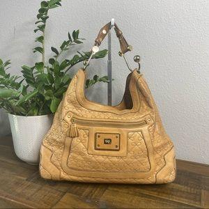 Anya Hindmarch Quilted Tan Hobo Bag